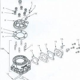 VORTEX DVS CYLINDER AND HEAD PARTS