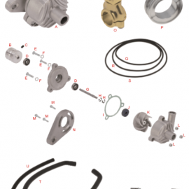 OTK WATER PUMP, PULLEYS, PIPES & CLAMPS