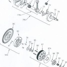 CRANKSHAFT AND CLUTCH PARTS