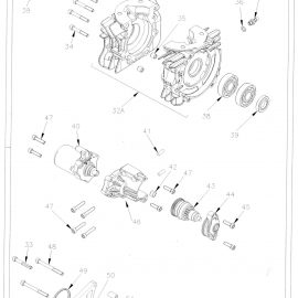 CRANKCASE AND STARTER PARTS
